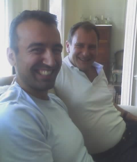 Life coach Christian Pyrros with his mentor